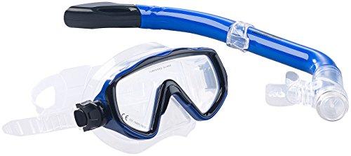Speeron Schnorchel-Ausrüstung: Schnorchel-Set für Kinder, Taucherbrille mit gehärtetem Glas...