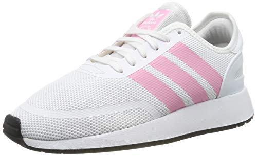 adidas Unisex-Kinder N-5923 J Gymnastikschuhe, Weiß (Ftwr White/Light Pink/Core Black), 38 EU (5UK) - Running White Kinder Schuhe