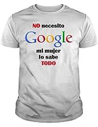 The Fan Tee Camiseta de Hombre Divertidas Divertidas NO Necesito Google I Dont Need
