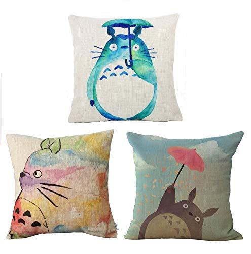 Elviros custodia cuscino 45x 45(cm) cotone lino quadrato decorativo federa per divano letto camera k [2 pièces]