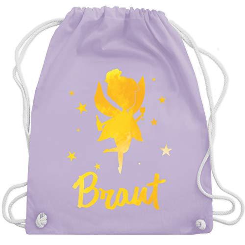 JGA Junggesellinnenabschied - JGA Fee - Braut - Unisize - Pastell Lila - WM110 - Turnbeutel & Gym Bag (Tasche Fee Mädchen Kostüm)