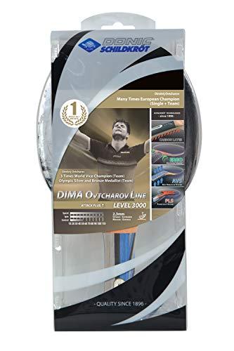 Donic-Schildkröt Tischtennisschläger Ovtcharov 3000, Premium Schläger mit Carbon-Einlagen, AVS, PLS & Ergo-Griff, 2,3 mm Schwamm, Liga - ITTF Belag, im Blister, 754400