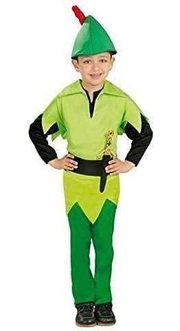 Jungen Peter Pan Robin Hood Buch Tag Halloween Kostüm Kleid Outfit 3-9 jahre - 7-9 Jahre