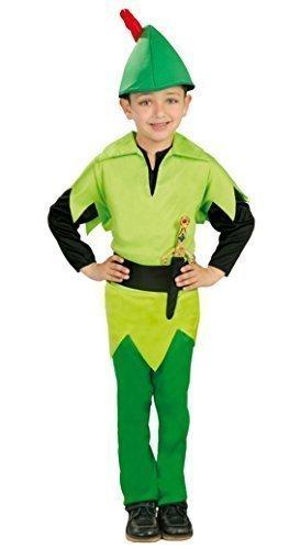 in Hood büchertag Halloween Kostüm Kleid Outfit 3-9 Jahre - Grün, 5-6 Years (Peter Pan Halloween Kostüm)