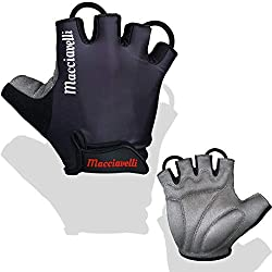 MACCIAVELLI cycling gloves for men - cycling gloves as half fingers