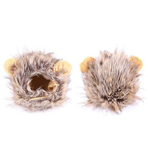 Artikelbild: PIXNOR Löwe Mähne Perücke Kostüm mit Ohren für Hund Katze Haustier (Kaffee)