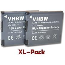 2 Batterie per camera Canon Ixus 125HS 132 135 140 240HS Ixy 220F 420F PowerShot Elph 110 HS 320 HS A2300 A2400 A2500 A2600 sostituisce NB-11L