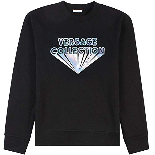 Versace Kollektion Silber Print Sweatshirt Large Black
