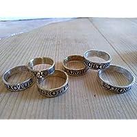 Fede in ottone o bronzo rosa o argento con scritta personalizzata