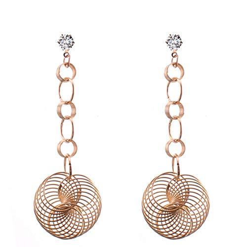 LOJBFD Kristall Farbe Gold Lange Kette Legierung Pinwheel Geometrische Ohrringe Für Frauen Schmuck Aussage Ohrringe -