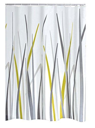RIDDER Duschvorhang Textil Gras inkl. Ringe Multicolor 180x200 cm