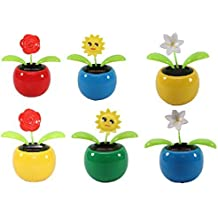 8d6ad747504154 Set of 6 Dancing Flowers~ 2 Roses   2 Smiley Sunflowers   2 Lily in