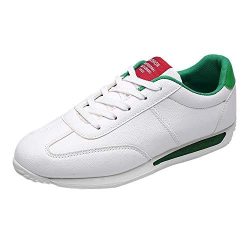 CUTUDE Herren Schuhe Freizeitschuhe Elegant Winter Sommer Freizeit Schuhe Männer Sneakers Sportschuhe Laufschuhe Halbschuhe (Grün, 42 EU) -
