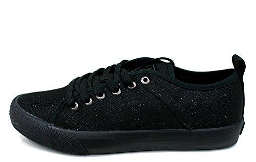 Guess Sneaker Donna Jolie Canvas Metallic Black Black