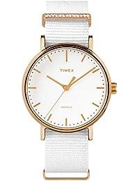 Timex Reloj Analógico para Mujer de Cuarzo con Correa en Nailon TW2R49100 78b429150cc0