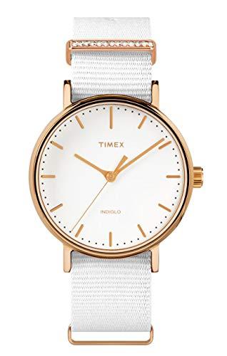 Timex Damen Analog Quartz Uhr Fairfield Women\'S Crystal