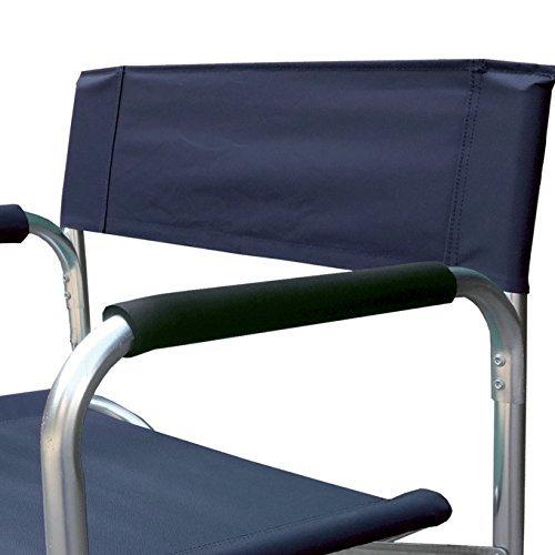 Chaise de directeur en aluminium et polyester tissu bleu Oxford cm 56x46xH 80