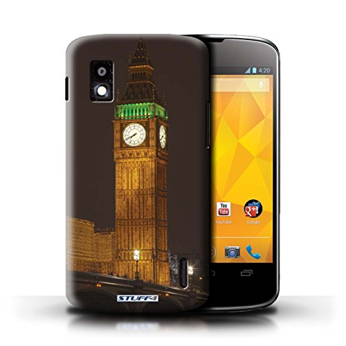 Kobalt® Imprimé Etui / Coque pour LG Nexus 4/E960 / Tower Bridge conception / Série Londres Angleterre Big Ben