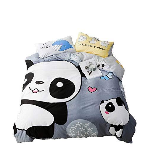 Papa&Mima Cartoon Tiere Print 3/4Bettbezug Set Bett Spannbettlaken Baumwolle Bett Bezug Full(70