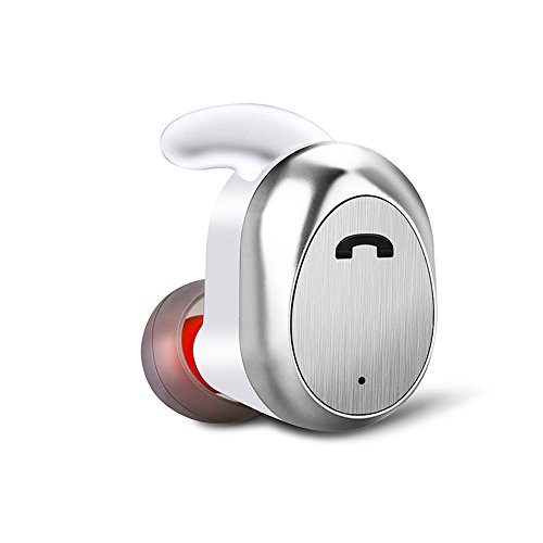 BANNAB Bluetooth Earbud Mini Invisible V4.2 Wireless Headset mit Mic Hands-Free Calls für iPhone Samsung LG HTC und andere Smartphones,White
