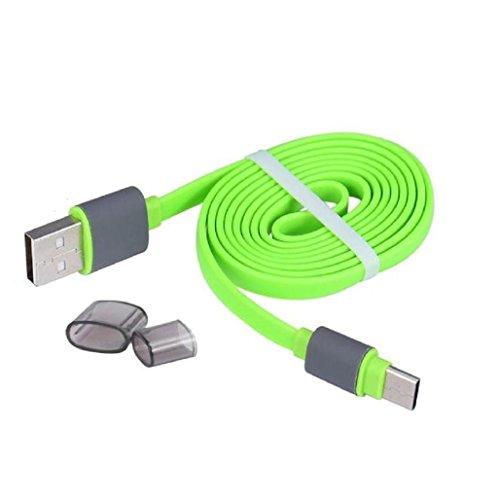 Sannysis USB 3.1 Tipo-C Cable de datos de carga para Oneplus 3, color verde