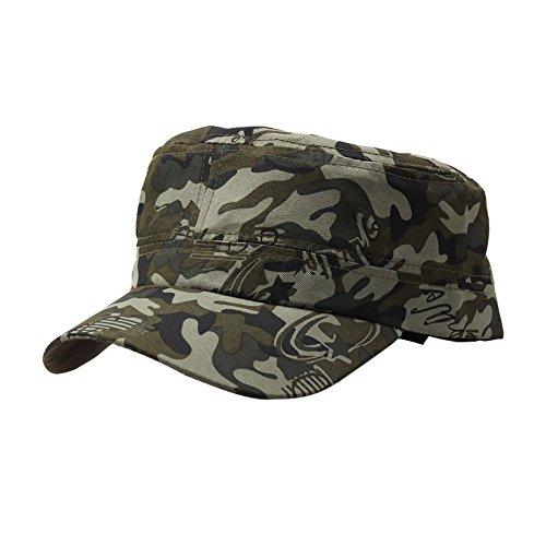 Trada Baseball Cap, Unisex Outdoor Camo Tactical Plain Vintage Armee Military Cadet Stil Cap Hut Einstellbar Basin Populäre Hut Camping Mütze Nepalesische Army Kappe Camo Hüte (D)