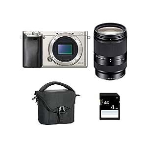 Sony α6000 + 18 - 200mm - digital cameras (Auto, Cloudy, Daylight, Flash, Fluorescent, Incandescent, Shade, Underwater, Landscape, Night portrait, Portrait, Sunset, Neutral, Vivid, Electronic, Battery, MILC)