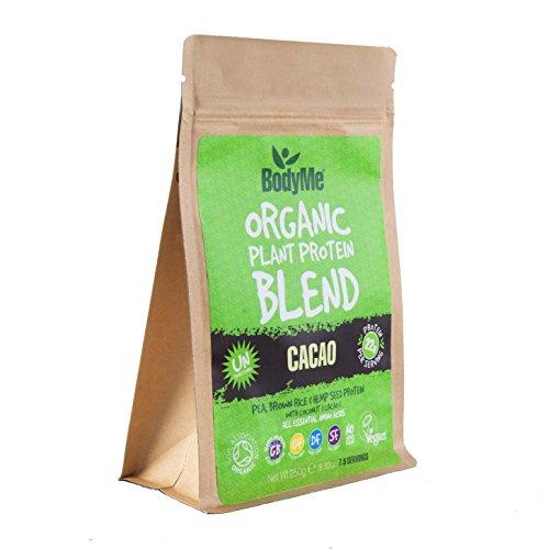 BodyMe Miscela Di Proteine Vegane Biologiche | Cacao Crudo | 250g Polvere | NON ZUCCHERAO Con 3 Proteines Vegetali