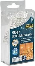 Idena 8582074 - Cadena de luces LED para la cubierta, batería, 2 m, 30 luces blancas calientes