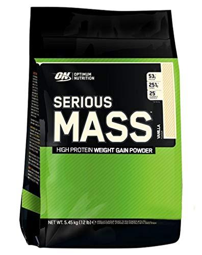 2 x Optimum Nutrition Serious Mass, 5455g Beutel , Cookies in Cream (2er Pack) (Nutrition Optimum Cookies)