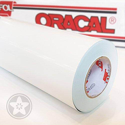 *hauptsachebeklebt Oracal 621 Folie 010 Weiß Klebefolie – 5m x 61,5cm – Orafol – Möbelfolie – Plotterfolie- Selbstklebend*
