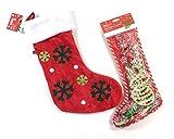 Set 2 Pezzi Cane Animale Domestico Regalo di Natale Calze pelle Grezza Snack