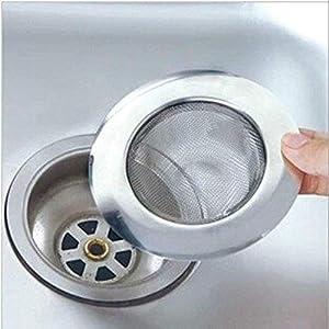 desatascar fregadero cocina: Filtro de acero inoxidable para fregadero, lavabo o ducha