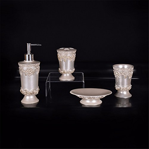 zyushiz-european-style-hotel-bathroom-set-emulsion-bottle-rinse-cup-soap-dish-toothbrush-holder-four