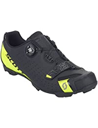 SCOTT MTB Comp Boa Zapatillas de ciclismo, negro y amarillo, 2018, matt black/sulphur yellow, 42