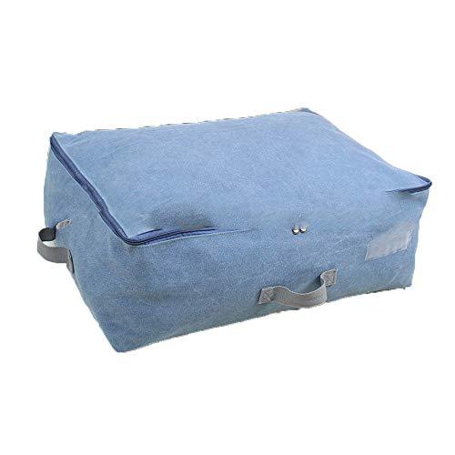 PGYZ Reißverschluss-Vakuumspeicher-Beutel-Segeltuch-Speicher-Kleidung, die Beutel sortiert, kann gewaschen werden Blau Blau 70X50X30Cm (Speicher Minnie)