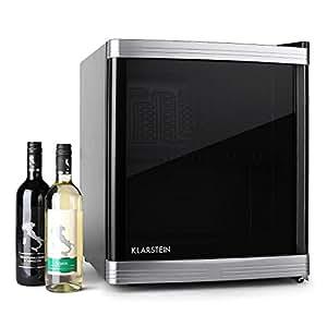Klarstein Beerlocker Mini réfrigérateur type cave à vin (pour conservation de bouteilles, capacité de 46L, classe énergétique B, porte transparente)
