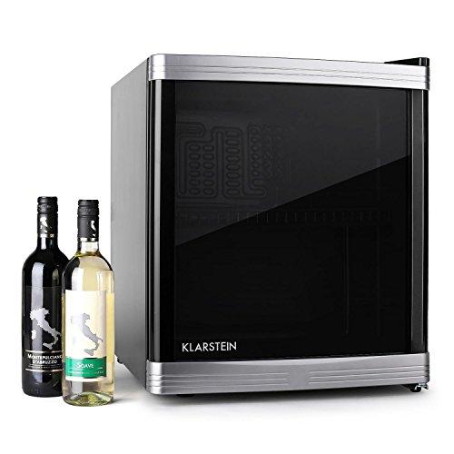 Klarstein • Beerlocker • Minibar • Réfrigérateur à boissons • B • 46 litres • 43 x 50 x 48 cm (LxHxP) • silencieux • 1 étagère • sens de la porte interchangeable • température réglable • noir