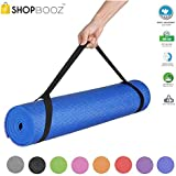 SBZ - SHOPBOOZ Yoga Mat Anti Skid Yogamat for Gym Workout and Flooring Exercise - Long Size Yoga Mat with Strap for Men Women