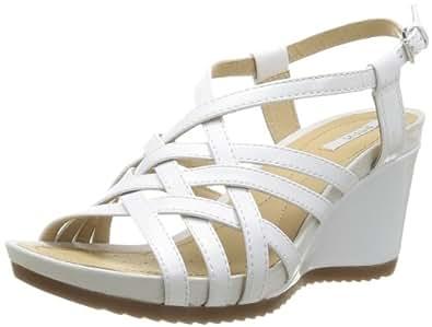 Geox D New Rorie E, Sandales femme - Blanc (Optic White), 40 EU