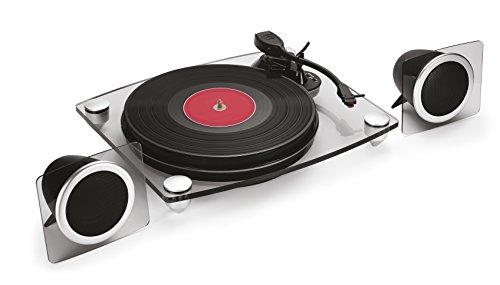Bigben Interactive TD115NSPS Schwarz, Transparent - Plattenspieler (Schwarz, Transparent, 33,45,78 RPM, Digital, Schallplatte, 680 mm, 420 mm)