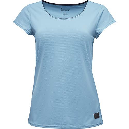 Black Diamond W Alpenglow Tee Damen T-Shirt XS Arctic Blue (Blue Tshirt Diamond)