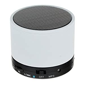 M-STARK Yu Yureka S Compatible Mini Bluetooth Wireless Speaker (S10)/Portable Audio Player Play FM Radio, audio from TF card and Auxiliary input - (WHITE)