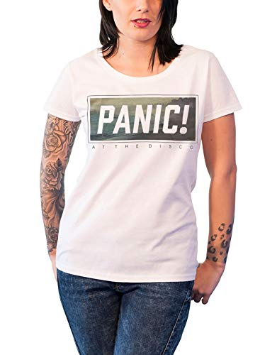 Panic At The Disco T Shirt Box Logo Brendon Nue offiziell Damen Skinny Fit -