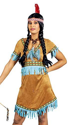 Indianerin Nashota Kostüm Damen Gr. 32 34 - Schönes Indianer Wilder Westen Kostüm für Damen für - Wilder Westen Damen Kostüm