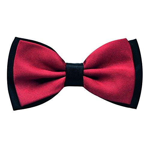 Enjoymore Herren Fliege Gr. Einheitsgröße, kastanienbraun Maroon Pretied Bow Tie