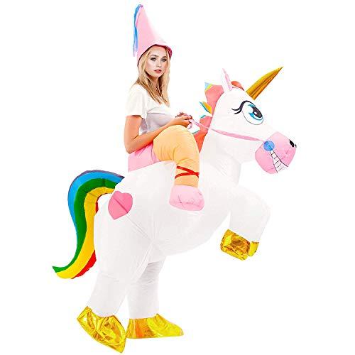 VAMEI Aufblasbare Einhorn Kostüm für Erwachsene Blow Up Party Cosplay Kostüm Party Favor ()