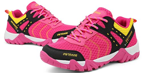 DADAWEN Mixte adulte Chaussures de Multisports outdoo/Sneakers Basses mixte adulte Rose