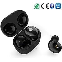 [NEUES Modell] Wireless Bluetooth Kopfhörer, SAKOBS Bluetooth 4.2 Kabellos Headset mit Tragbarer Ladestation, eingebautem Mikrofon, 3 Paar Ohrstöpsel, Doppel Stereo, 7 bis 10 Stunden Spielzeit.
