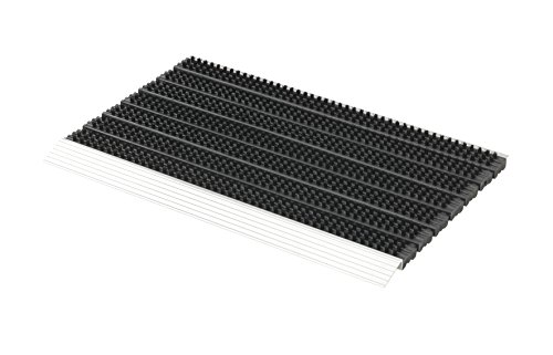 Astra 1850030044Super Brush Aluminio Felpudo, Negro, 75x 45x 2,8